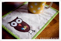 mug rug! cute!