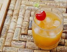 Fuzzy Naval: 1 shot peach schnapps, 1/2 shot vodka, fill with ice cold orange juice with the pulp.