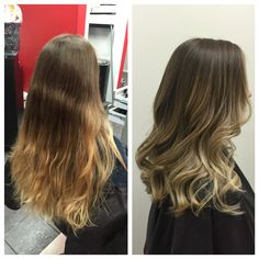 Before and after balayage by yours truly @amy_ziegler #versatilestrands