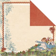 Creative Imaginations - Ragamuffin Collection - 12 x 12 Double Sided Paper - Ragamuffin at Scrapbook.com $0.97