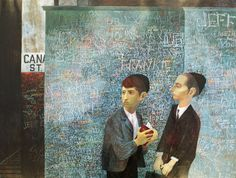 Peter Blake chooses his favourite painting for Country Life. Orthodox Boys by Bernard Perlin depicts two teenagers in front of a newspaper kiosk in New York. Peter Blake, Connecticut, Paul Cadmus, Art Editor, Ben Shahn, Social Realism, New York School, Tate Gallery, Royal College Of Art
