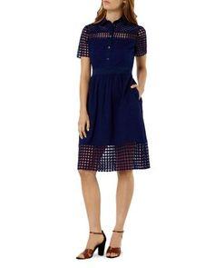 KAREN MILLEN Broderie Dress   bloomingdales.com
