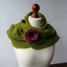 Crocheted scarf.