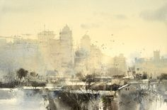 【台中到了/ Next stop, Taichung】18 x 26 cm  watercolor Demo by Chien Chung Wei