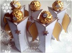 Rocher Engel, Geschenke, Kleinigkeit zu Weihnachten, cameo silhouette, Ferrero Rocher, basteln,