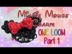 ▶ Part 1- 1 LOOM Minnie Mouse Rainbow Loom Charm Tutorial- ORIGINAL DESIGN - YouTube