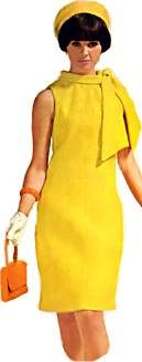 Yellow dress. #1960sdress #1960sclothing #1960sfashion