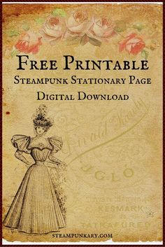 The Internet is full of free steampunk DIY craft videos if you know where to look for them. These 10 awesome free steampunk DIY craft videos are inspirational.This list of printable steampunk wedding invitations is a sampling that come in sets including t Chat Steampunk, Steampunk Crafts, Victorian Steampunk, Steampunk Fashion, Vintage Ephemera, Vintage Paper, Vintage Birds, Vintage Crafts, Printable Art