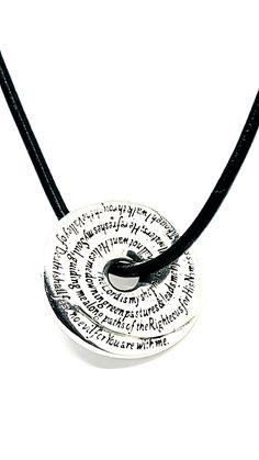Psalm 23 Prayer Wheel by David J. David J, Psalm 23, Washer Necklace, Prayer, Jewelry Design, Concept, Jewellery, Sterling Silver, Pendant