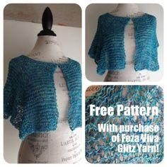 What to Knit? VIva Glitz Shoulderette Shawl Pattern Free with any purchase of Viva Glitz