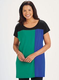 Color Block Tunic - AmeriMark - Online Catalog Shopping for Womens Apparel…
