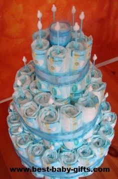 Diaper Cake Directions For Easy Diaper Cakes
