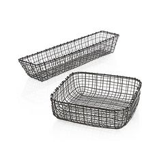 Metalwork basket is crafted of different gauges of iron wire in a casual, artisanal weave. Zinc plating and an antique finish add to the basket's warmth and textural appeal.<br /><br /><NEWTAG/><ul><li>100% iron with zinc-plated and antique brass finish</li><li>Food-safe</li><li>Hand wash</li><li>Made in India</li></ul>