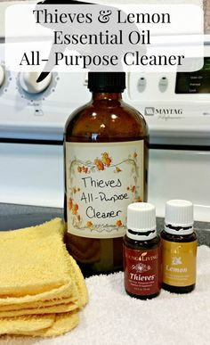 Thieves & Lemon Essential Oil All- Purpose Cleaner - My Own Home