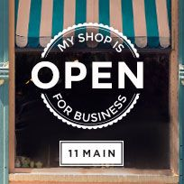 My shop at 11 Main is now open. Be sure to stop by!