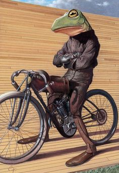 C.F. Payne Hollandse kikker op de fiets