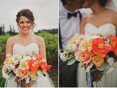 Beautiful poppy bridal bouquet by McKenzie Powell...i love poppies