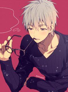 Omg so good ! Kuroko with glasses !