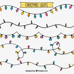 Not merely solemnly, also intelligent will be there for Christmas. Because also the light sequence i Christmas Doodles, Diy Christmas Cards, Christmas Art, Xmas, Doodle Drawings, Easy Drawings, Doodle Art, Doodle Frames, Christmas Lights Drawing