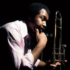Grachan Moncur III (photo by Francis Wolff) Jazz Artists, Jazz Musicians, Francis Wolff, Jazz Cafe, Cool Jazz, All That Jazz, Jazz Blues, Trombone, Sound Of Music