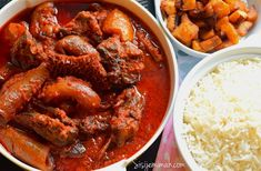 Nigerian assorted meat stew