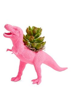 Free shipping and returns on Plaid Pigeon T-Rex Faux Planter at Nordstrom.com. An upcycled toy makes a clever planter for a succulent decoration that instantly brightens any space.