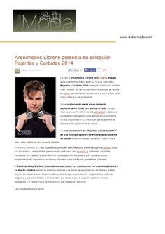El cantante Raúl imagen de la nueva colección  de pajaritas y corbatas ARQUIMEDES LLORENS