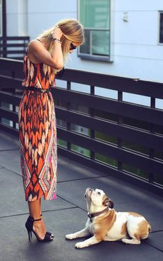 love the dress.. thr pup is cute too