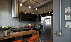Obra seca na cozinha #estilo industrial # reforma rápida # cozinhas # cozinha industrial