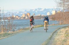 Take a pedal-powered journey through Anchorage on the abundance of paved multi-use trails