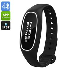 Fitness Tracker Bracelet is a high-end waterproof fitness band that features a heart rate monitor, pedometer, blood pressure monitor and a whole lot more. Fitness Tracker App, Fitness Tracker Bracelet, Waterproof Fitness Tracker, Abs Pictures, Workout Pictures, Best Online Clothing Stores, Arm Work, Bluetooth Watch, Calorie Counter