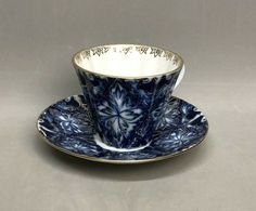 Vintage Lomonosov Tea Cup & Saucer Set Russia Cobalt Blue w/ Gold Trim Floral Tea Cup Set, Cup And Saucer Set, Tea Cup Saucer, Teacup, Cobalt Blue, Tea Time, Russia, Floral, Gold
