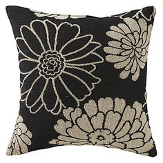 "18"" Modern Textured Flower Polyester Decorative Pillow Cover – USD $ 19.99"