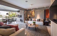 Sala + varanda lindas e cheias de estilo ❣️{Projeto: Carlos Rossi Arquitetura}