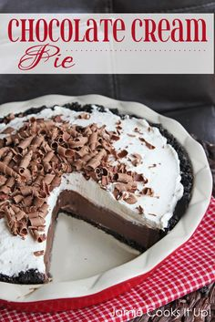 Chocolate Cream Pie from Jamie Cooks It Up!