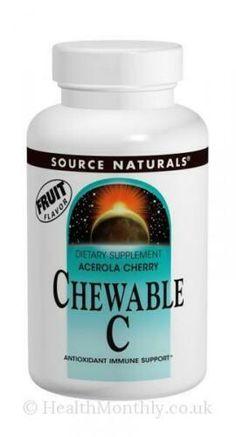 Cherry Chewable C Tab,ascorbic acid,amino acid metabolism,hormone synt Cold Or Allergies, Blue Vases, Tabata, The Body Shop, Amino Acids, Vitamin C, Metabolism, Cherry, Diy