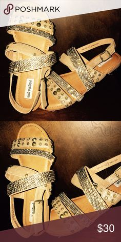 f704874cdb7 Not rated sandals very pretty new bronze color Not rated very pretty sandals  new bought at buckle has rhinestones that you can just bling everywhere you  go ...
