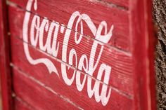 DIY Coca Cola sign, aged and distressed