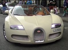Why is it so satisfying to see a guy in an awesome car so miserably fail at parking? This is crazy! Hit the image to watch...  #FAIL #BUGATTI