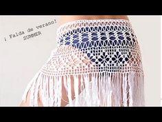 Falda de Verano a Ganchillo I SKIRT SUMMER I PARTE 1/2 I cucaditasdesaluta - YouTube