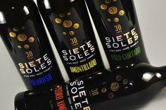 Vitriglass ha realizado éste trabajo de serigrafía y para decorar la gama de botellas SIETE SOLES. www.vitriglass.es