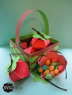 Strawberry Favors and Basket