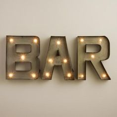 One of my favorite discoveries at WorldMarket.com: 'Bar' LED Marquee Sign