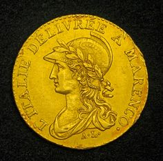 Gold Napoleon Coins - 20 franc gold coin - Commemorating the Victory of Marengo.
