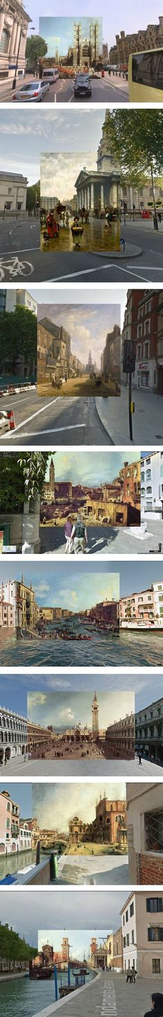 History and Art meet Modern Views : 18th century paintings superimposed over Google Street