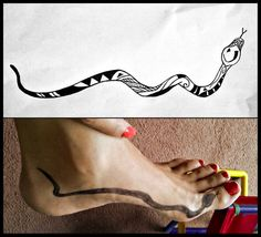 Polynesian style snake tattoo...i want this but wrapped around my ankle