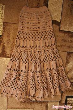 Crochet Skirt Long skirt for fall. - Knitting - Home Moms Crochet Skirt Pattern, Crochet Skirts, Knit Skirt, Crochet Clothes, Crochet Patterns, Sewing Patterns, Black Crochet Dress, Crochet Blouse, Knit Crochet