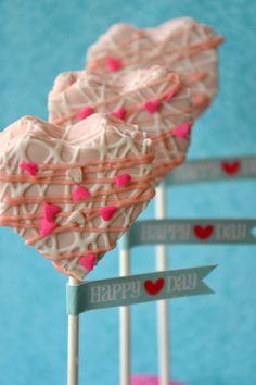 No Bake Heart Cake Pops | A to Zebra Celebrations...easy Valentine treat for the kids class...