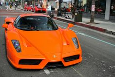 Orange Ferrari Enzo
