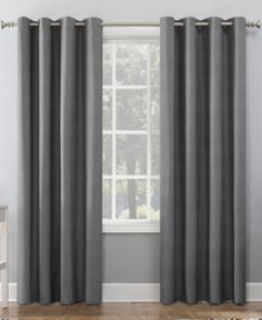 Duran 50 x 84 Thermal Insulated Blackout Grommet Curtain Panel Sun Zero Duran x Textured Thermal Blackout Curtain – Grey Blackout Curtains, Grey Curtains, Grommet Curtains, Panel Curtains, Space Furniture, Furniture For Small Spaces, Light Blocking Curtains, Home Office Lighting, Custom Drapes